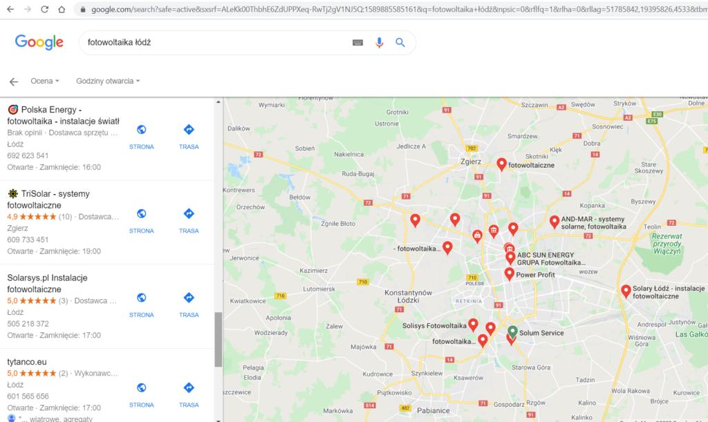ranking firm fotowoltaicznych Łódź 2020
